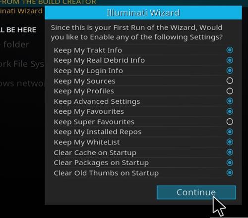 how to install illuminati kodi build step 21