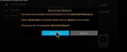 how to install illuminati kodi build step 22