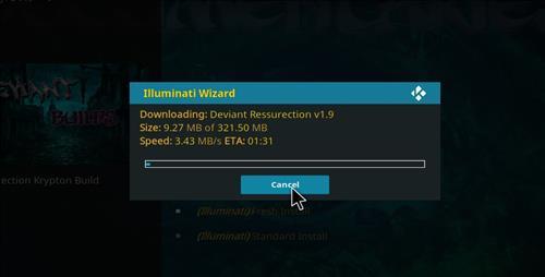 how to install illuminati kodi build step 27