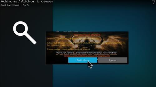 how to install warlock Kodi build with screenshots step 14
