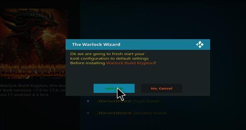 how to install warlock Kodi build with screenshots step 16