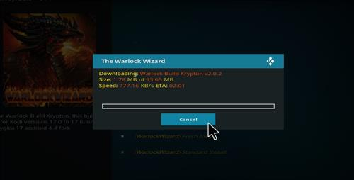 how to install warlock Kodi build with screenshots step 17