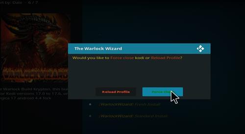 how to install warlock Kodi build with screenshots step 18