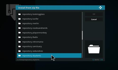 manual and download skydarks repository step 5