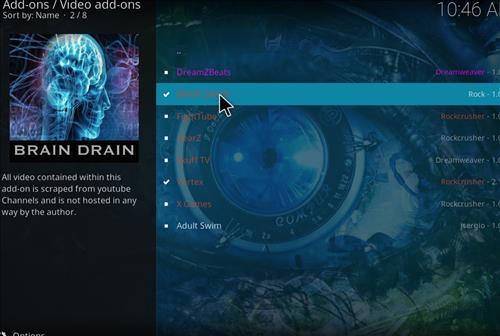 How to Install Brain Drain Kodi Add-on with Screenshots step 17