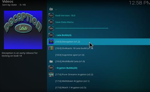 How to Install Deception Kodi Build Leia 18 with Screenshots step 17