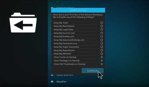How to Install Eden Nvidia Kodi Build with Screenshots step 14
