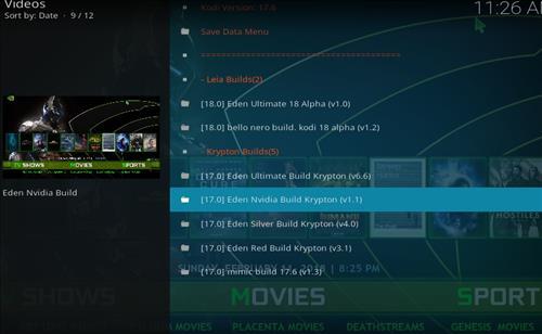 How to Install Eden Nvidia Kodi Build with Screenshots step 16