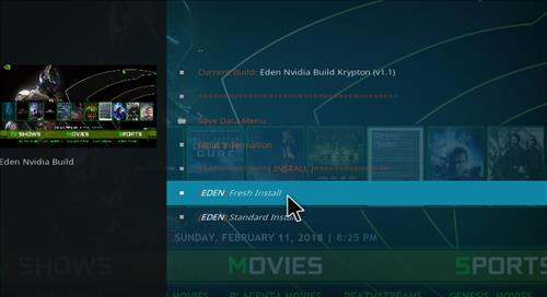 How to Install Eden Nvidia Kodi Build with Screenshots step 17