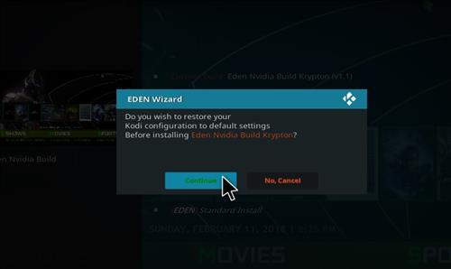 How to Install Eden Nvidia Kodi Build with Screenshots step 18