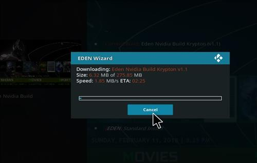 How to Install Eden Nvidia Kodi Build with Screenshots step 19