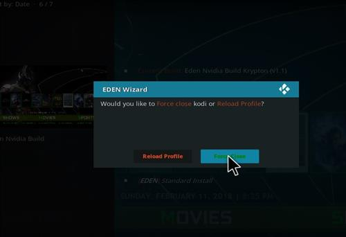 How to Install Eden Nvidia Kodi Build with Screenshots step 20