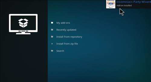 How to Install Insomniacs Kodi Build with Screenshots step 13