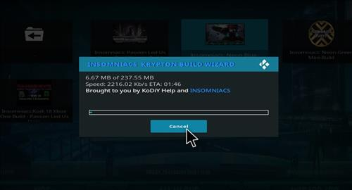 How to Install Insomniacs Kodi Build with Screenshots step 18