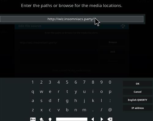How to Install Insomniacs Kodi Build with Screenshots step 5