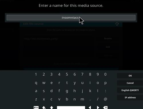 How to Install Insomniacs Kodi Build with Screenshots step 6