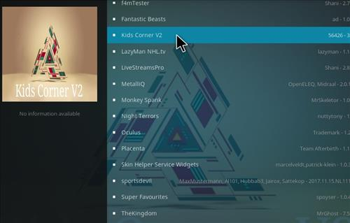 How to Install Kids Corner V2 Kodi Add-on with Screenshots step 17