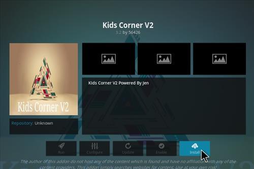 How to Install Kids Corner V2 Kodi Add-on with Screenshots step 18