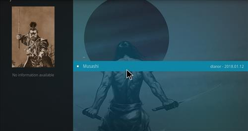 How to Install Musashi Kodi Add-on with Screenshots step 17