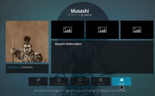 How to Install Musashi Kodi Add-on with Screenshots step 18