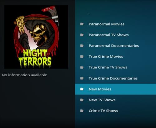 How to Install Night Terrors Kodi Add-on with Screenshots pic 2