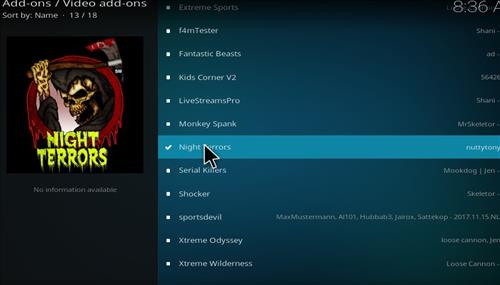 How to Install Night Terrors Kodi Add-on with Screenshots step 17