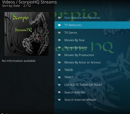 How to Install Scorpio HQ Streams Kodi Add-on with Screenshots pic 2