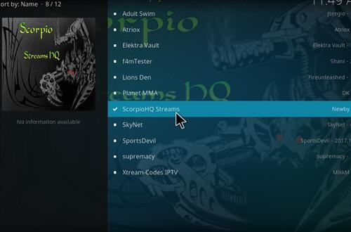 How to Install Scorpio HQ Streams Kodi Add-on with Screenshots step 17