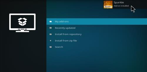 How to Install Sparkle Kodi Add-on with Screenshots step 15