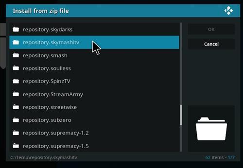 Manual and download skymashi tv repo step 5