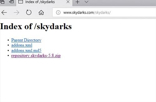 manual and download skydarks repo step 2