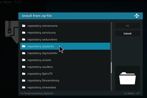 manual and download skydarks repo step 5