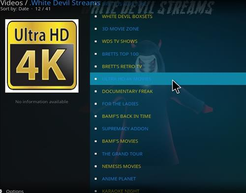Best Kodi Video Addons for HD 4K, 3D, 1080p HD March 2018 white dvil streams pic 2