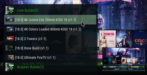 Best Working Kodi 18 Leia Builds 4k colors lite pic 2