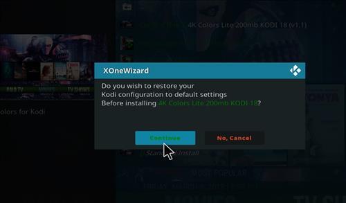 How to Install 4K Colors lite Kodi Build leia18 step 18