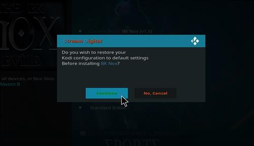 How to Install BK Nox Kodi Build with Screenshots step 19