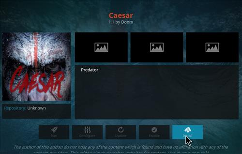 How to Install Ceasar Kodi Add-on with Screenshots step 18
