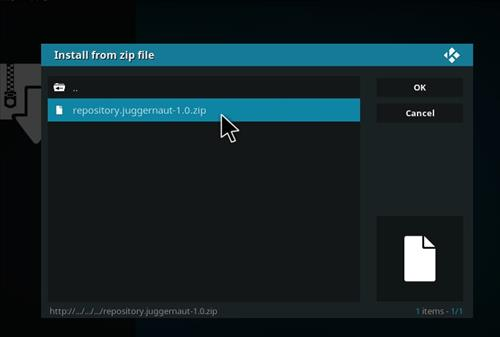 How to Install Juggernaut Kodi Add-on with Screenshots step 12