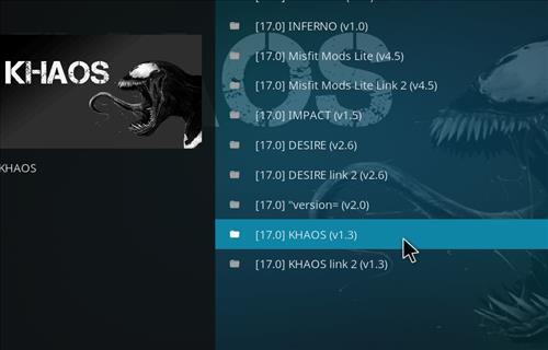 How to Install Khaos Kodi Build with Screenshots step 23