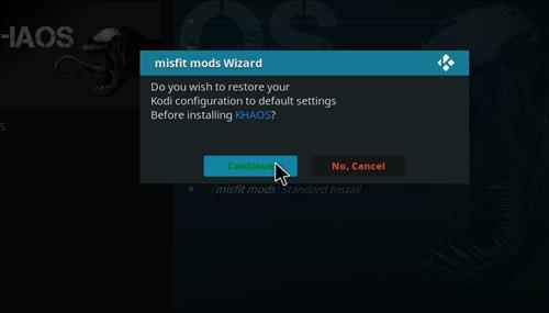 How to Install Khaos Kodi Build with Screenshots step 25