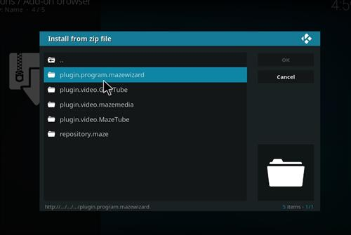 How to Install Maze Kodi Build with Screenshots step 12