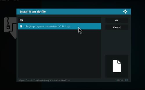How to Install Maze Kodi Build with Screenshots step 13