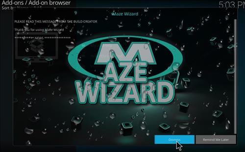 How to Install Maze Kodi Build with Screenshots step 15