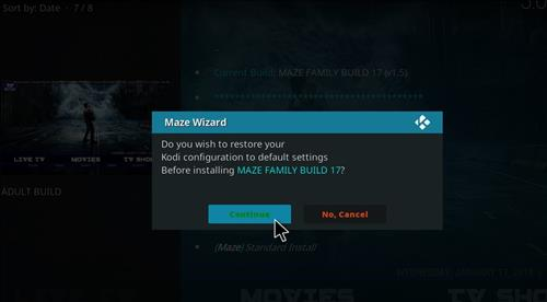 How to Install Maze Kodi Build with Screenshots step 20