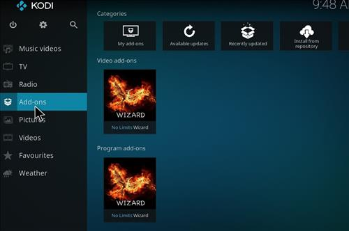 How to Install No Limits Magic Build Kodi Krypton step 14