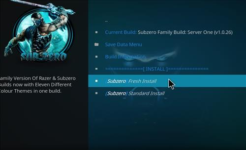 How to Install Subzero Kodi Build with Screenshots step 24