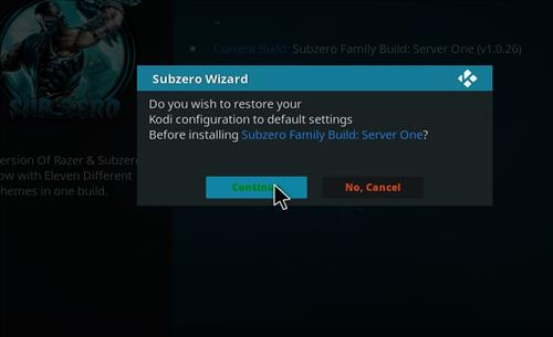 How to Install Subzero Kodi Build with Screenshots step 25