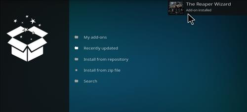 How to Install The Reaper Kodi Build with Screenshots step 13
