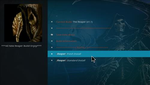 How to Install The Reaper Kodi Build with Screenshots step 18