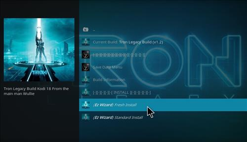 How to Install Tron Legacy Build Kodi 18 Leia step 19